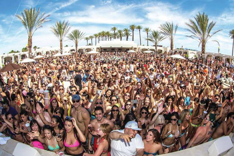 DAYLIGHT Beach Club Las Vegas Swimming Pool Packed Full of People