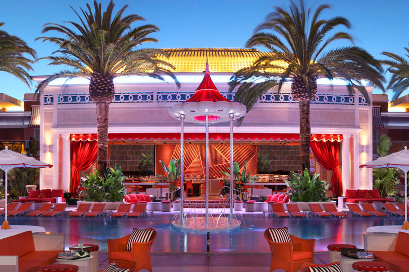 Encore Beach Club Las Vegas Pool at Night