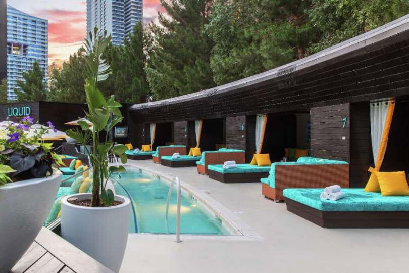 LIQUID Pool Lounge Las Vegas Pool Cabanas