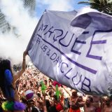 Marquee Dayclub Las Vegas Woman with Flag