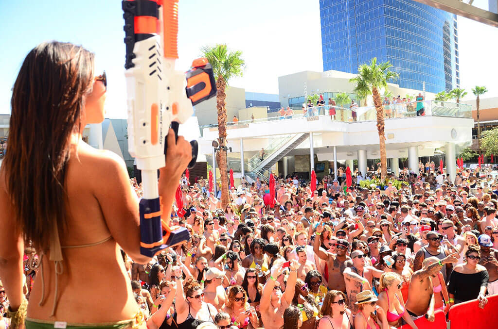 Palms Pool & Dayclub Las Vegas Woman with Water Gun