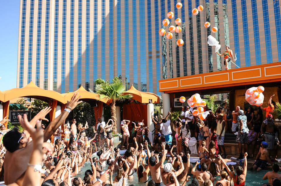 TAO Beach Las Vegas Packed with People