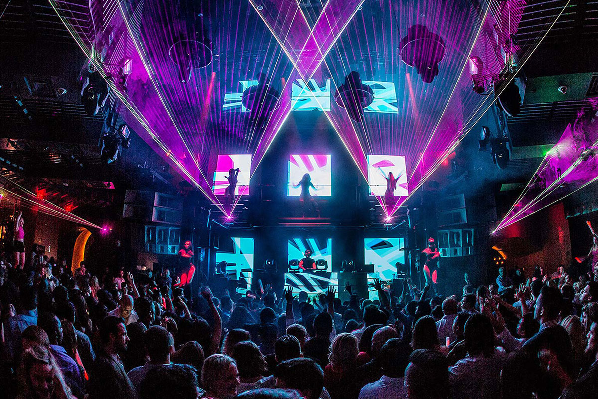 Marquee Nightclub Las Vegas Dance Floor with Lasers