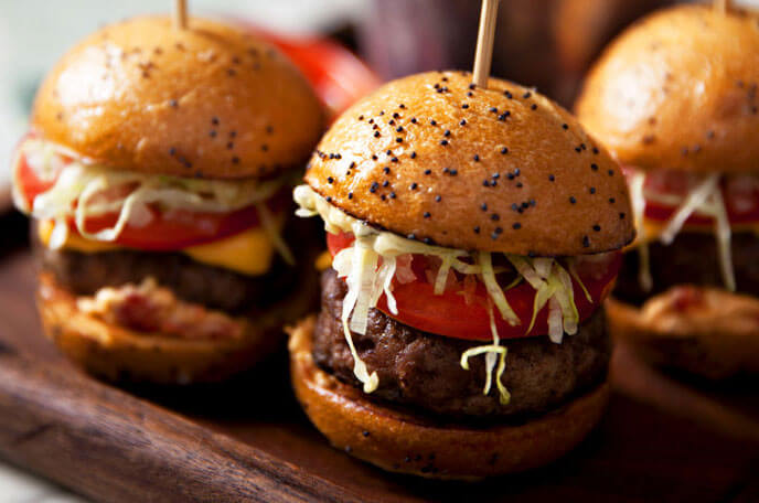 Clique Bar & Lounge Las Vegas Mini Burgers