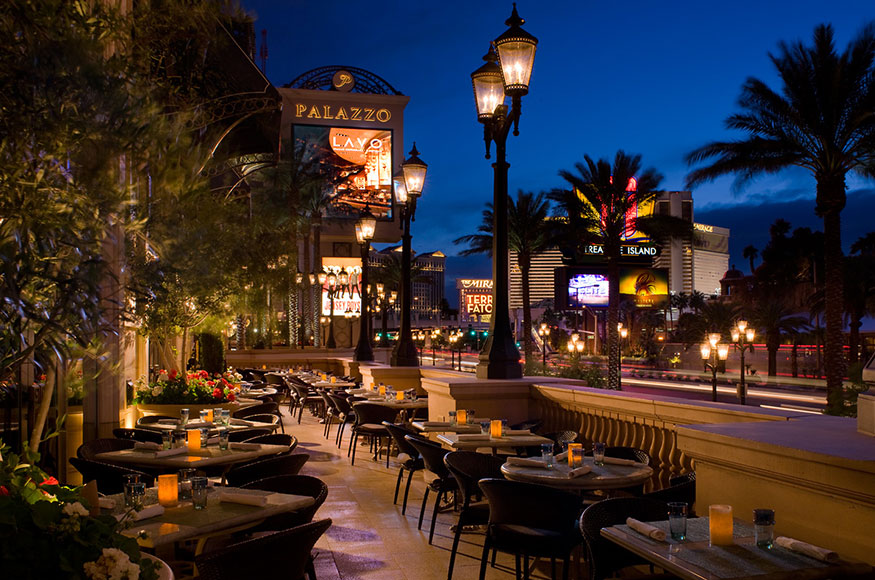 Lavo Italian Restaurant Las Vegas Outdoor Seating
