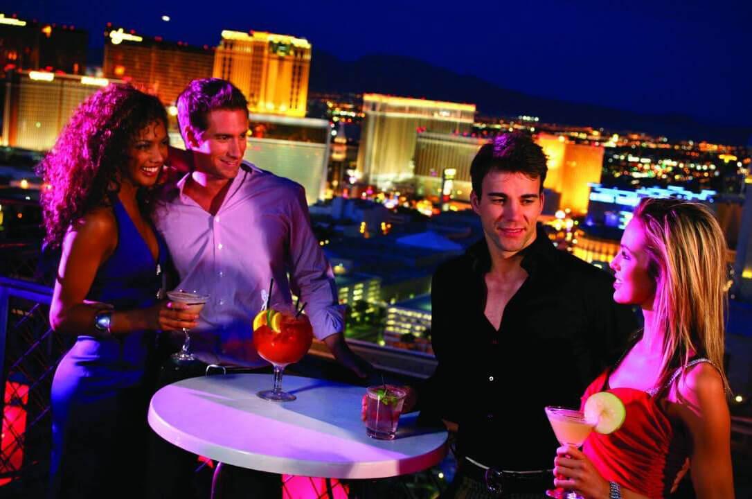 VooDoo Rooftop Nightclub Las Vegas People Having Drinks